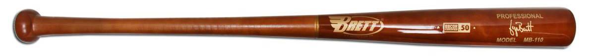 Brett Bros. Maple/Bamboo Wood Baseball Bat: MB110 Adult