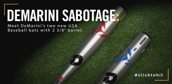 2019 DeMarini Sabotage USA Baseball Bats