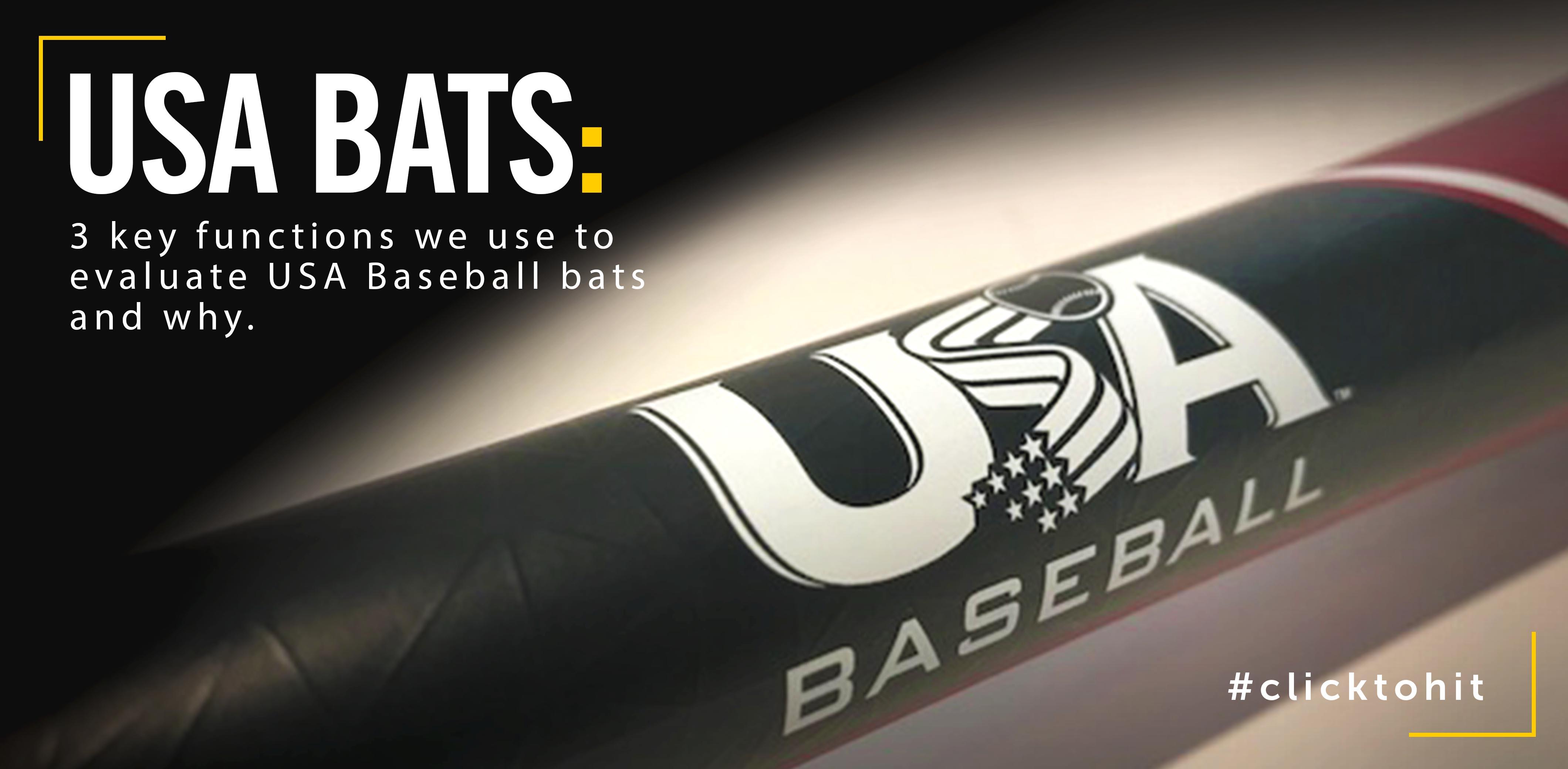 3 Key Functions For USA Baseball Bats
