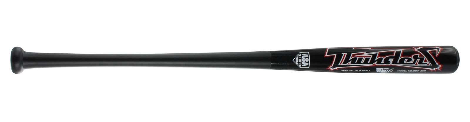 Black Brett Bros Thunder Bamboo Maple Wood Slowpitch Bat.jpg