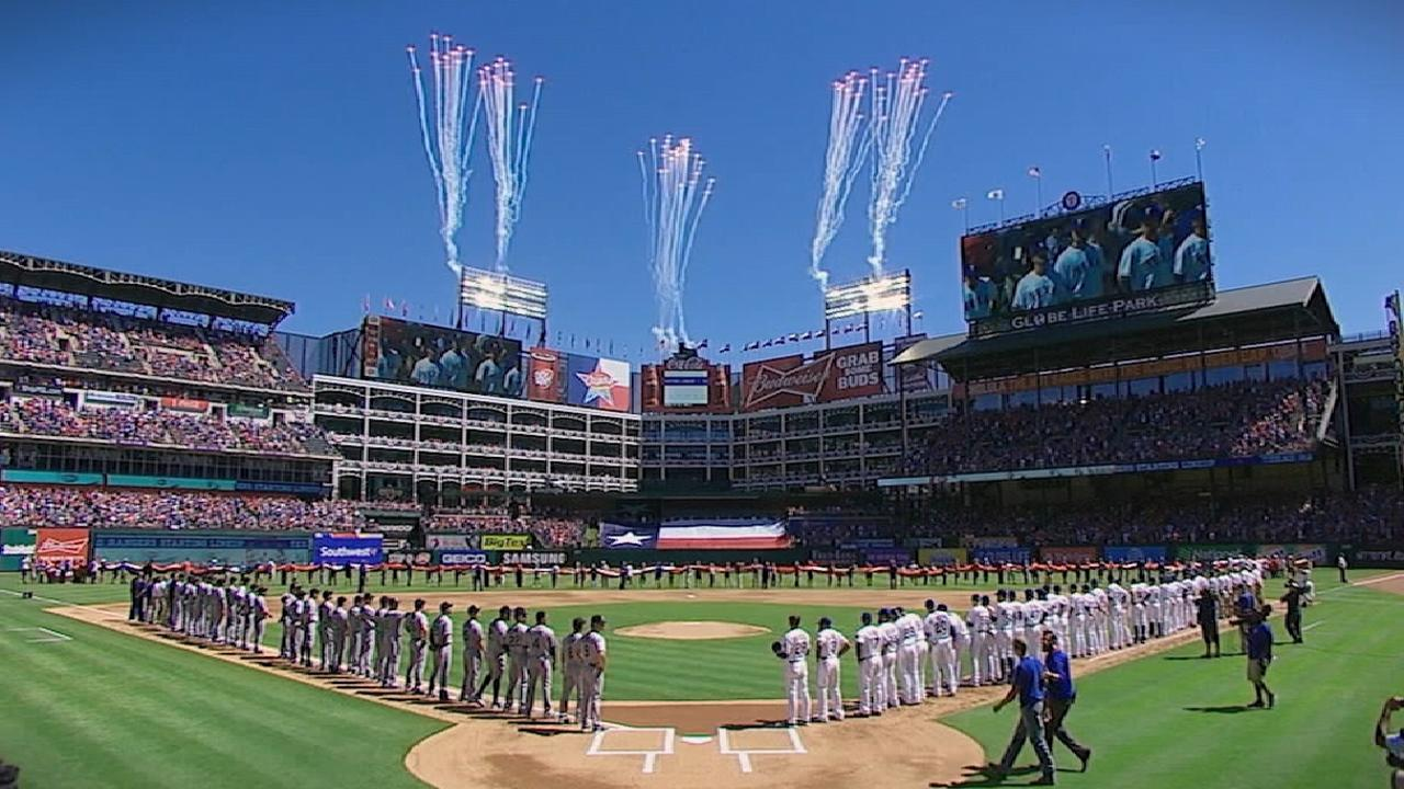 Major League Baseball Opening Day Texas Rangers